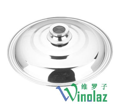 Stainless steel wok cover