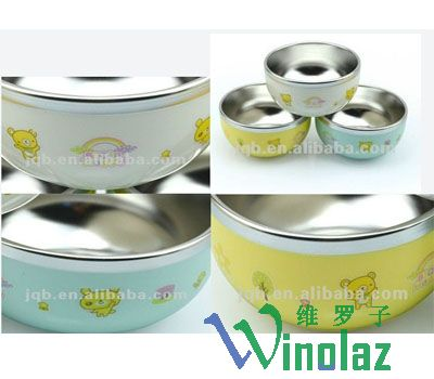 Stainless steel children with mixing bowl