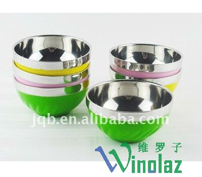 Colorful stainless steel bowl